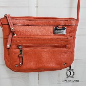 💥FINAL SALE Tignanello Orange Crossbody Purse